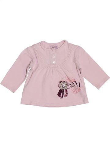 T-shirt manches longues fille MARÈSE rose 3 mois hiver #1393071_1
