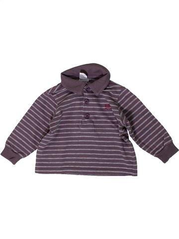 Polo manches longues garçon CYRILLUS violet 6 mois hiver #1393121_1