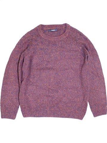 Pull garçon GEORGE violet 11 ans hiver #1393135_1