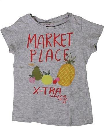 T-shirt manches courtes fille MONOPRIX gris 4 ans été #1393379_1