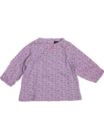 Camiseta de manga larga niña TOUT COMPTE FAIT violeta 6 meses invierno #1393985_1