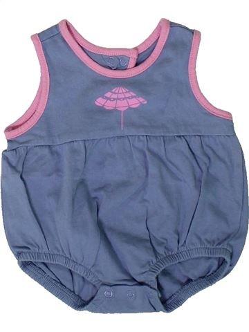 T-shirt sans manches fille VERTBAUDET bleu 3 mois été #1394038_1