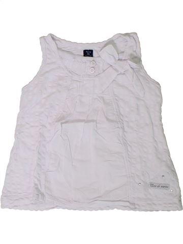 Camiseta sin mangas niña TERRE DE MARINS blanco 2 años verano #1394476_1