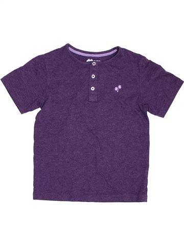 Camiseta de manga corta niño TU violeta 7 años verano #1394806_1
