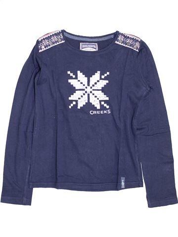 T-shirt manches longues fille CREEKS bleu 14 ans hiver #1395291_1