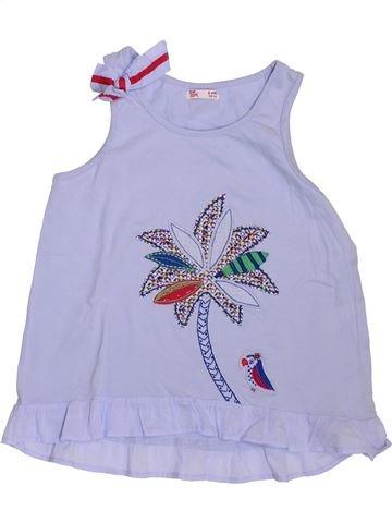 T-shirt sans manches fille DPAM gris 8 ans été #1395326_1
