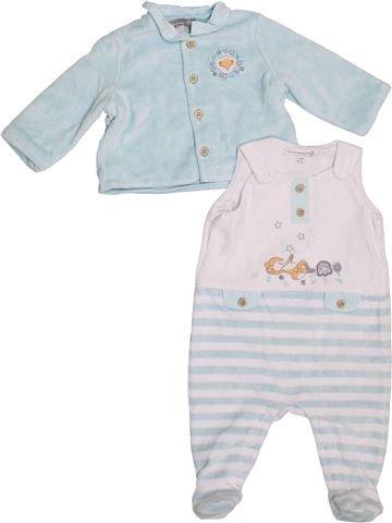 Pyjama 2 pièces garçon SERGENT MAJOR blanc 3 mois hiver #1395337_1