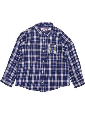 Chemise manches longues garçon DPAM violet 5 ans hiver #1395352_1