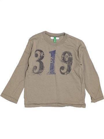 T-shirt manches longues garçon BENETTON beige 5 ans hiver #1395353_1