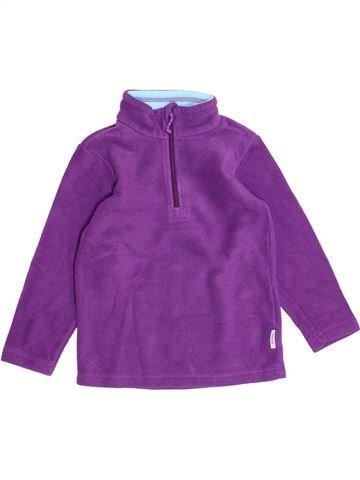 Pull fille QUECHUA violet 4 ans hiver #1395911_1