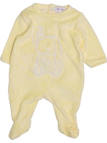 Pyjama 1 pièce unisexe LA REDOUTE CRÉATION jaune 1 mois hiver #1395920_1