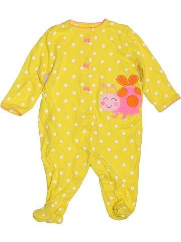 Pyjama 1 pièce fille CARTER'S jaune 6 mois été #1396831_1
