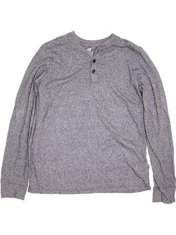 T-shirt manches longues garçon H&M gris 14 ans hiver #1396910_1