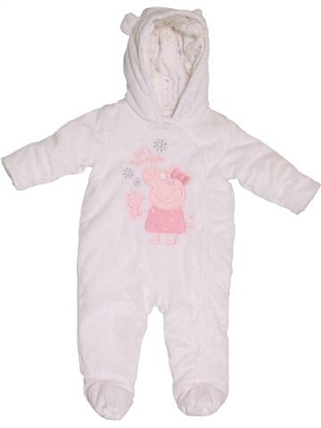 Combi-Pilote fille PEPPA PIG blanc 6 mois hiver #1397013_1