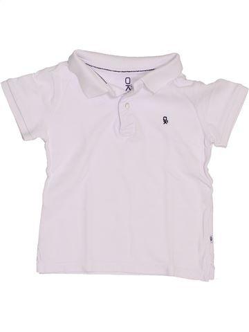 Polo manches courtes garçon OKAIDI blanc 4 ans été #1397183_1