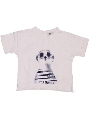 T-shirt manches courtes garçon TAPE À L'OEIL blanc 18 mois été #1397336_1