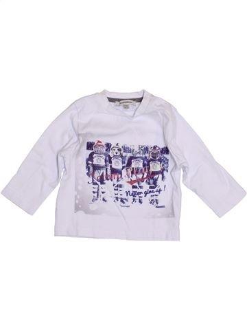 T-shirt manches longues garçon 3 POMMES gris 6 mois hiver #1397611_1