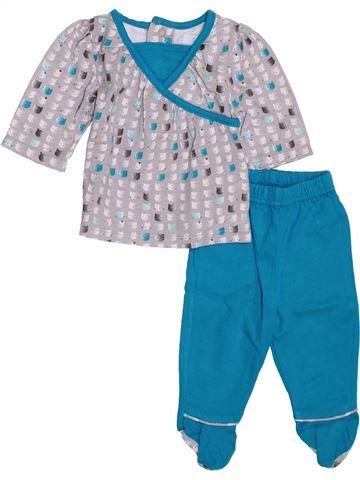 Pyjama 2 pièces fille OKAIDI bleu 1 mois été #1397680_1