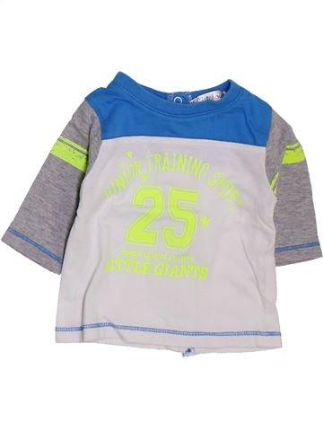Camiseta de manga corta niño KIABI blanco 1 mes verano #1397720_1
