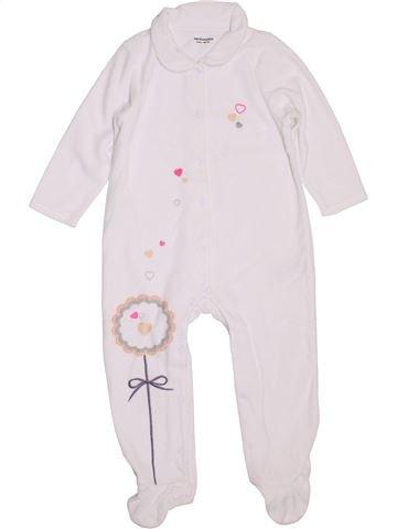 Pyjama 1 pièce fille VERTBAUDET blanc 2 ans hiver #1397762_1