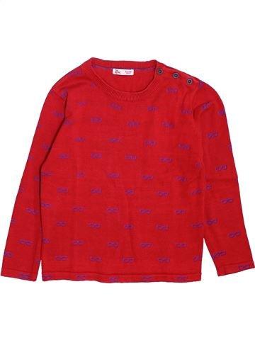 Pull garçon DPAM rouge 5 ans hiver #1397883_1