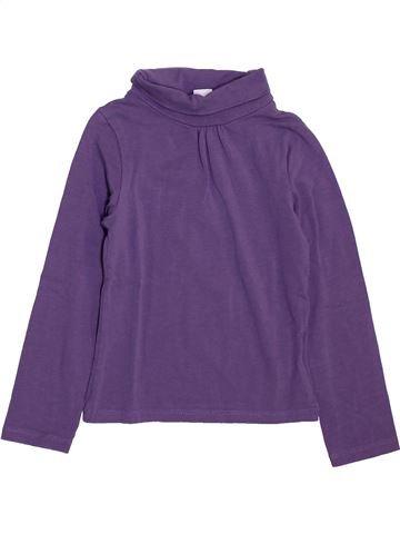 T-shirt col roulé fille LH BY LA HALLE violet 3 ans hiver #1397949_1