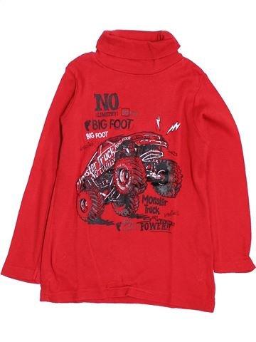 T-shirt col roulé garçon LH BY LA HALLE rouge 4 ans hiver #1397963_1