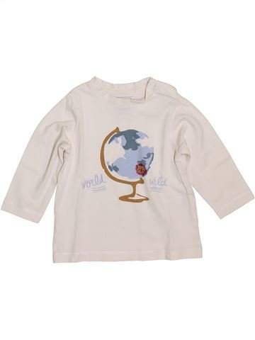 T-shirt manches longues garçon CYRILLUS blanc 12 mois hiver #1397973_1