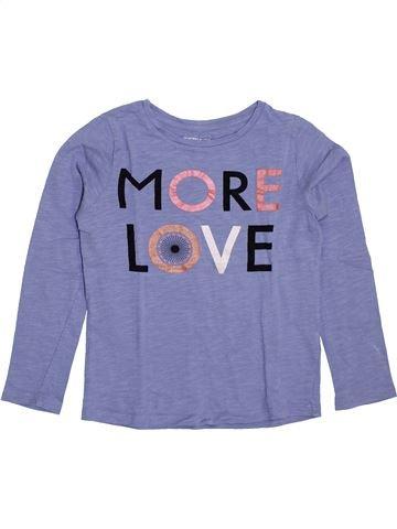 T-shirt manches longues fille MONOPRIX bleu 8 ans hiver #1398024_1