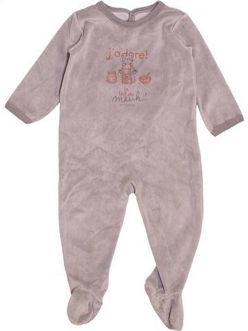 Pyjama 1 pièce unisexe PETIT BATEAU rose 18 mois hiver #1398036_1