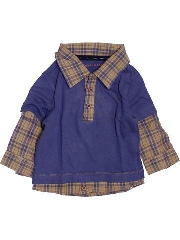 Polo de manga larga niño GRAIN DE BLÉ violeta 3 meses invierno #1398067_1