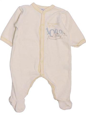 Pyjama 1 pièce garçon PETIT BATEAU violet 3 mois hiver #1398076_1