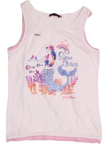 T-shirt sans manches fille CATIMINI rose 14 ans été #1398345_1