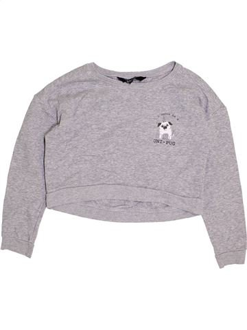 Sweat fille NEW LOOK gris 11 ans hiver #1398685_1