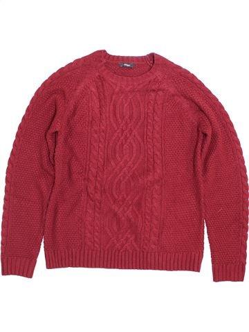 Pull garçon GEORGE rouge 14 ans hiver #1399028_1