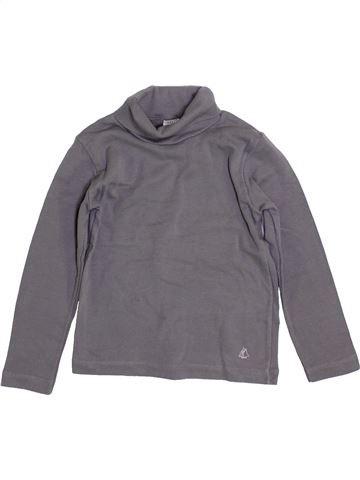 Camiseta de cuello alto niño PETIT BATEAU gris 4 años invierno #1399186_1