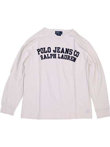 T-shirt manches longues garçon RALPH LAUREN blanc 9 ans hiver #1399378_1