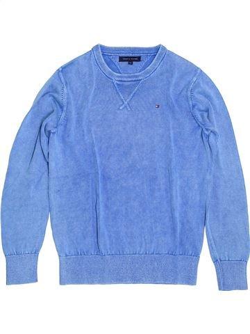 Pull garçon TOMMY HILFIGER bleu 12 ans hiver #1399386_1