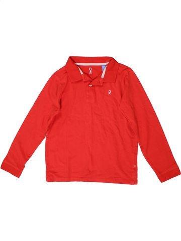 Polo manches longues garçon OKAIDI rouge 8 ans hiver #1399482_1