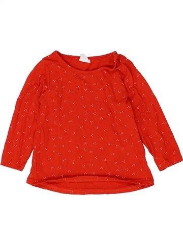 T-shirt manches longues fille H&M rouge 6 mois hiver #1399582_1