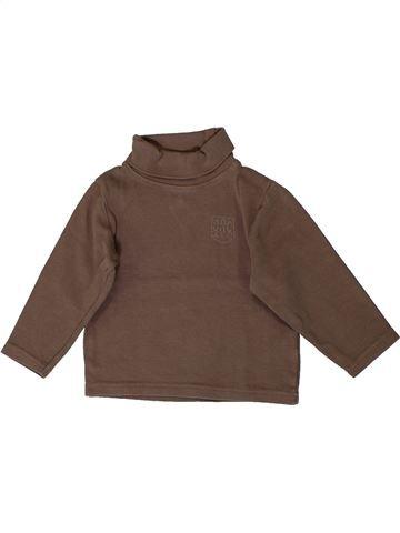 T-shirt col roulé garçon ORCHESTRA marron 3 ans hiver #1399618_1