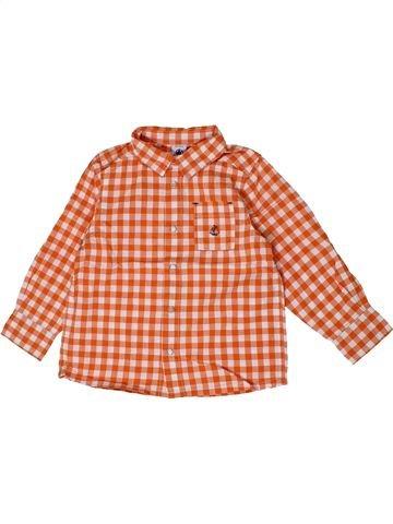 Camisa de manga larga niño PETIT BATEAU naranja 3 años invierno #1399640_1