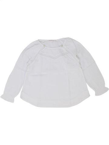 Blouse manches longues fille MONOPRIX blanc 4 ans hiver #1399678_1