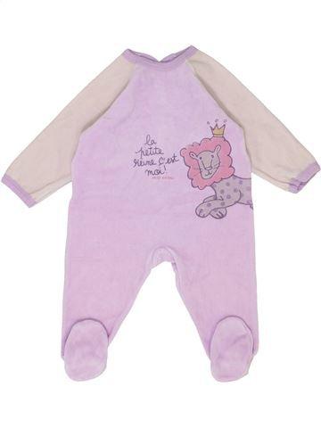 Pijama de 1 pieza niña PETIT BATEAU rosa 12 meses invierno #1399712_1