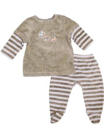 Pijama de 2 piezas niño VERTBAUDET gris 12 meses invierno #1399929_1