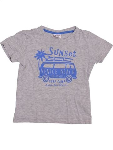 T-shirt manches courtes garçon TAPE À L'OEIL gris 3 ans été #1400001_1