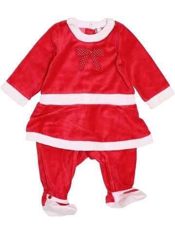 Pyjama 1 pièce fille ORCHESTRA blanc 9 mois hiver #1400107_1