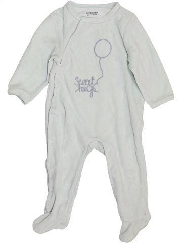 Pijama de 1 pieza niño VERTBAUDET blanco 6 meses invierno #1400405_1