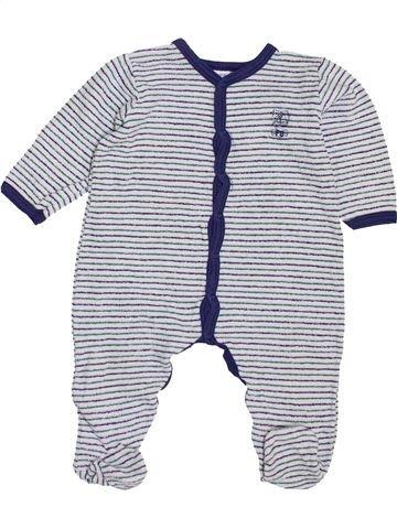 Pyjama 1 pièce garçon PETIT BATEAU gris 12 mois été #1400477_1
