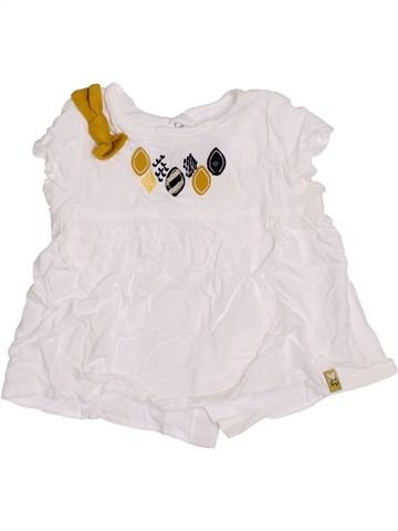 Blusa de manga corta niña JEAN BOURGET blanco 12 meses verano #1400516_1